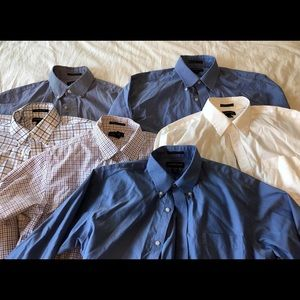 Lands End Tailored Fit Mens Dress Shirts